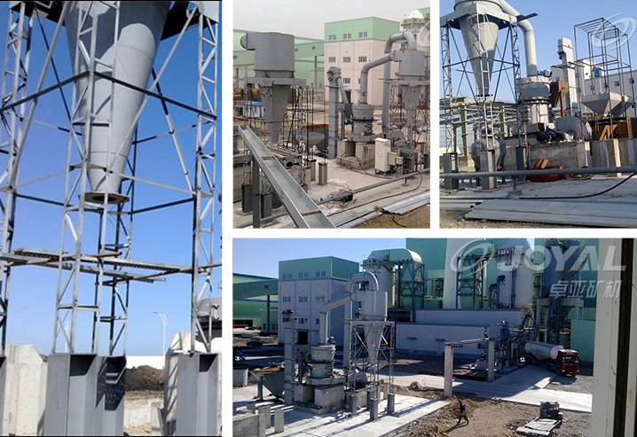 10tph Clinker powder grinding line in Dalian, China